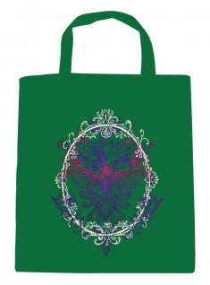 (U09582)Umweltfreundliche Baumwoll - Tasche , ca. 28 x 43 cm mit Aufdruck in 7 Farben grün