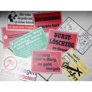 50 x Schild Spaßschilder versch. Groeßen Restposten Schilder - 125023