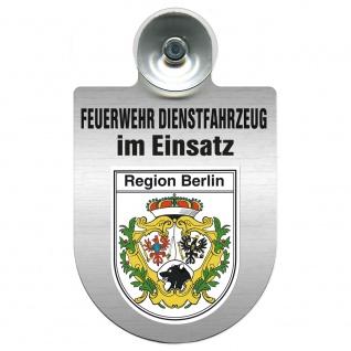 Einsatzschild Windschutzscheibe incl. Saugnapf - Feuerwehr Dienstfahrzeug im Einsatz - 393801 - incl. Regionen nach Wahl Region Berlin