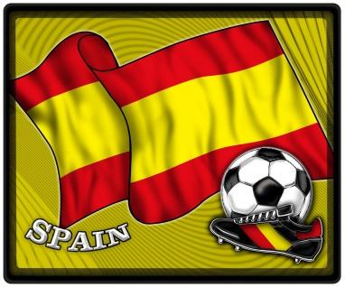 Mousepad Mauspad mit Motiv - Spanien Fahne Fußball Fußballschuhe - 83154 - Gr. ca. 24 x 20 cm