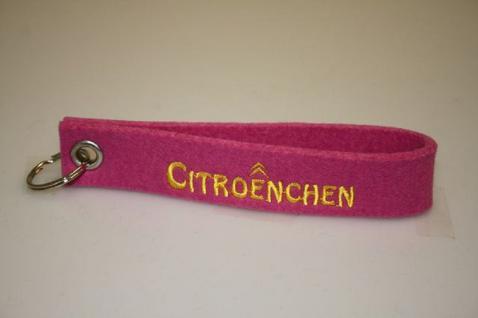 Filz-Schlüsselanhänger mit Stick - Citroenchen - Gr. ca. 17x3cm - 14402