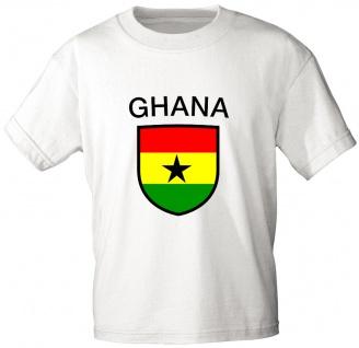 Kinder T-Shirt mit Print - Ghana - 73054 - weiß - Gr. 152/164