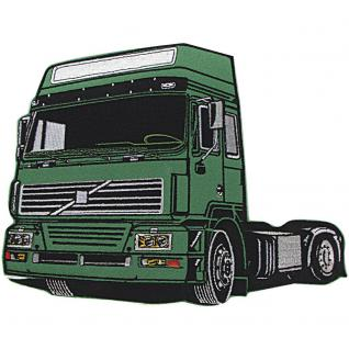 Rückenaufnäher - Truck grün - 04803 - Gr. ca. 25, 5 x 20, 5 cm - Patches Stick Applikation
