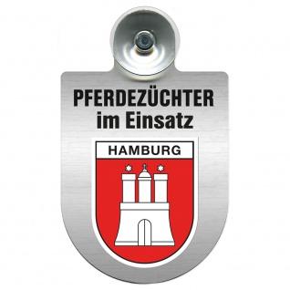 Einsatzschild Windschutzscheibe incl. Saugnapf - Pferdezüchter im Einsatz - 309389 Region Hamburg