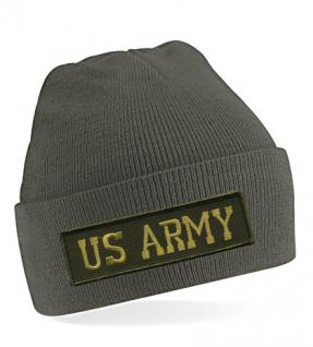 HIP-HOP Mütze Strickmütze mit Einstickung ? US Army - 54069 schwarz