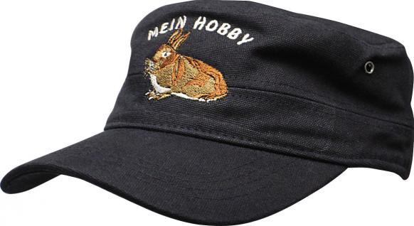 Military - Cap Baseballcap mit Stick - Hase Kaninchen - Mein Hobby - 60584 denimblau - Cap Kappe Baumwollcap