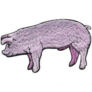 Aufnäher - Ferkel Schwein Sau - 00964 - Gr. ca. 8cm x 11cm