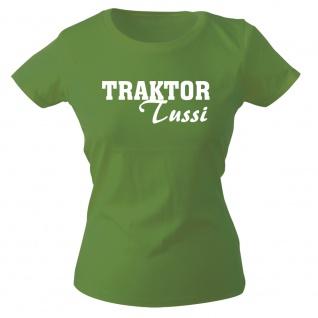 Girly-Shirt mit Print TRAKTOR Tussi 15705 grün Gr. XS