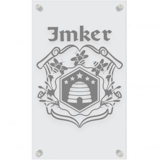 Zunftschild Acryl-Kunststoffplatte - IMKER - 309455 versch. Farben - silber