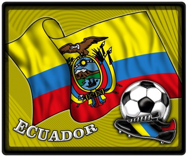 Mousepad Mauspad mit Motiv - Ecuador Fahne Fußball Fußballschuhe - 83044 - Gr. ca. 24 x 20 cm