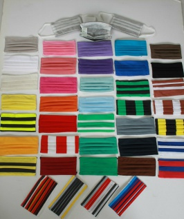 Textil Design-Masken waschbar aus Baumwolle mit zertifizierten Innenvlies - Konvolut