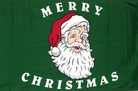 Flagge mit Motiv - Weihnachtsmann - Gr. 150cm x 90cm - 24336 - Dekoflagge Christmas