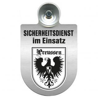 Einsatzschild Windschutzscheibe incl. Saugnapf - Sicherheitsdienst im Einsatz - 309351 Region Preussen