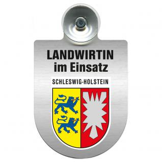 Einsatzschild Windschutzscheibe incl. Saugnapf - Landwirtin im Einsatz - 309738-12 Region Schleswig-Holstein