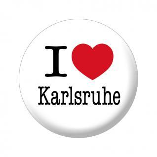Magnet - I love Karlsruhe - Gr. ca. 5, 7 cm - 16039 - Küchenmagnet