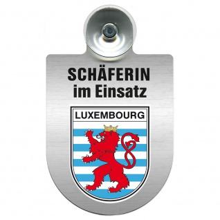 Einsatzschild Windschutzscheibe incl. Saugnapf - Schäferin im Einsatz - 309459 Region Luxembourg