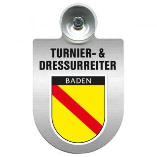 Einsatzschild Windschutzscheibe incl. Saugnapf - Turnier- und Dressurreiter im Einsatz - 309471-17 Region Baden
