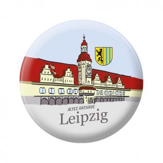 Magnet - ALTES RATHAUS LEIPZIG - Gr. ca. 5, 7 cm - 16047 - Küchenmagnet