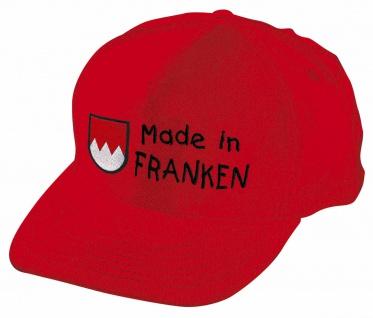 Kinder Baseballcap mit Einstickung - Made in Franken - 60896 rot