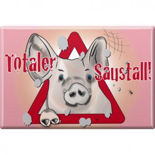 TIERMAGNET - Schweine - Totaler Saustall - Gr. ca. 8 x 5, 5 cm - 38838 - Küchenmagnet