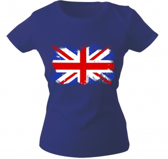 Girly-Shirt mit Print Flagge Fahne Union Jack Großbritannien G12122 Gr. Royal / M