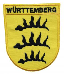 AUFNÄHER - Württemberg - 01910 - Gr. ca. 6, 5x8cm Stick Applikation Patches