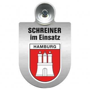Einsatzschild Windschutzscheibe incl. Saugnapf - Schreiner im Einsatz - 309461 Region Hamburg