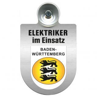 Einsatzschild für Windschutzscheibe incl. Saugnapf - Elektriker im Einsatz - 309489-1 Region Baden-Württemberg