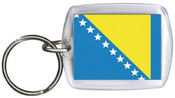 Schlüsselanhänger - BOSNIEN - Gr. ca. 4x5cm - 81028 - WM Länder