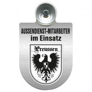 Einsatzschild Windschutzscheibe incl. Saugnapf - Außendienstmitarbeiter im Einsatz - 309366-19 - Region Preussen