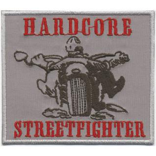 AUFNÄHER - Hardcore Streetfighter - 06043 - Gr. ca. 9, 5 x 8, 5 cm - Patches Stick Applikation