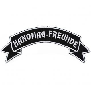 Rückenaufnäher - Hanomag-Freunde - 07307/3 - Gr. ca. 28 x 7 cm - Patches Stick Applikation