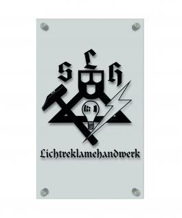 Zunftschild Handwerkerschild - Lichtreklamehandwerk - beschriftet auf edler Acryl-Kunststoff-Platte ? 309447 schwarz