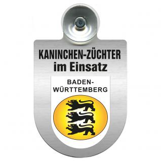 Einsatzschild Windschutzscheibe incl. Saugnapf - Kaninchenzüchter im Einsatz - 309361-1 - Region Baden-Württemberg