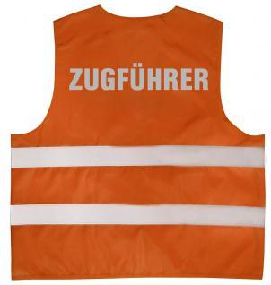 Warnweste mit Aufdruck - ZUGFÜHRER - 10348 orange Gr. S-4XL - Vorschau