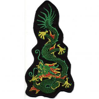 Aufnäher - Grüner Drache - 07375 - Gr. ca. 20 x 10 cm - Patches Stick Applikation