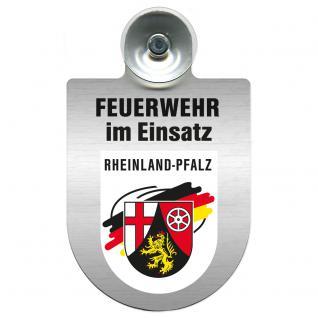 Einsatzschild Windschutzscheibe - Feuerwehr - incl. Regionen nach Wahl - 309355 Rheinland-Pfalz