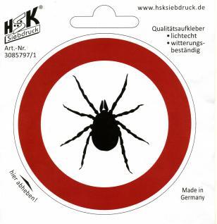 PVC- Aufkleber - Achtung ZECKEN - 308579-1 - Gr. ca. 200x200mm