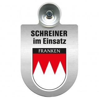 Einsatzschild Windschutzscheibe incl. Saugnapf - Schreiner im Einsatz - 309461 Region Franken