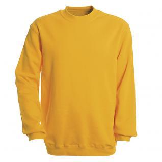 Sweat-Shirt unisex ohne Print in 14 farben Gr. S-XXL 41375 gelb / XXL