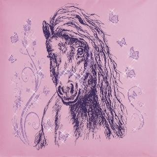 KISSEN - Schmetterling-Pony - Gr. ca. 40x40cm - 11332 - Zierkissen Dekokissen