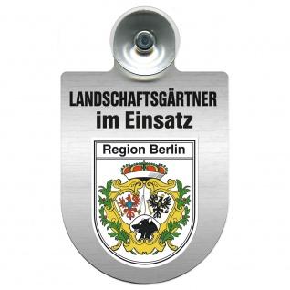 Einsatzschild Windschutzscheibe incl. Saugnapf - Landschaftsgärtner im Einsatz - 309375 - Region Berlin