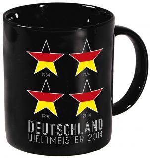 Tasse Kaffeebecher Deutschland 4 Sterne 57474 schwarz