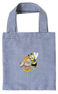 Kinder-Baumwolltasche mit Einstickung - Biene mit Honigtopf - 12349