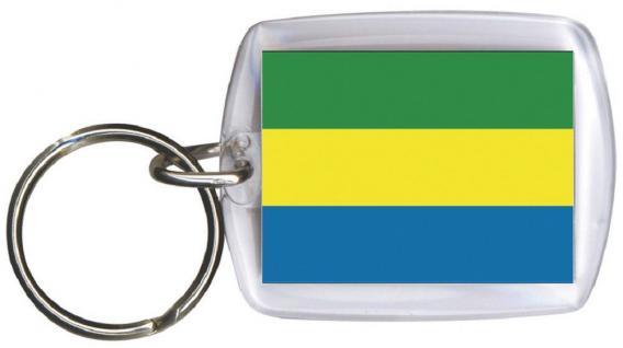 Schlüsselanhänger Anhänger - GABUN - Gr. ca. 4x5cm - 81052 - WM-Länder