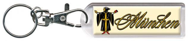 Schlüsselanhänger Keyholder - München - Grüße aus Bayern - Gr. ca. 2, 5x7cm - 13207