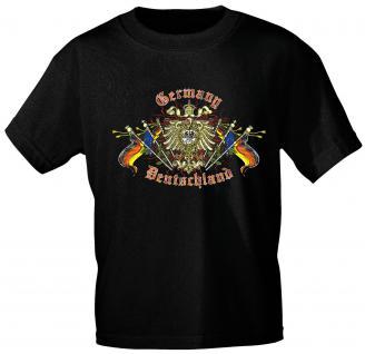 T-Shirt unisex mit Aufdruck - GERMANY DEUTSCHLAND - 09553 - Gr. L