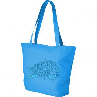 Modische Lifestyle- Tasche mit Motiv- Stickerei - florales Muster - 08958 - Shopper Tragetasche Ticiana Montabri