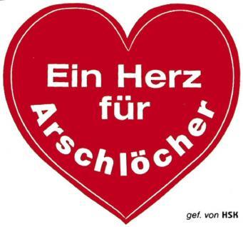 PVC Aufkleber Auto-Applikation Spass-Motive und Sprüche - Ein Herz... - 303183 - Gr. ca. 7 x 10 cm