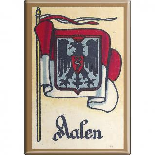Küchenmagnet - Wappen Aalen - Gr. ca. 8 x 5, 5 cm - 37501 - Magnet Kühlschrankmagnet
